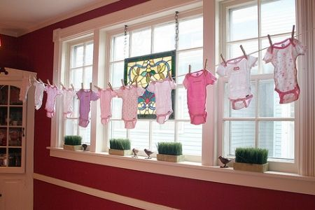 I Love This Idea Hanging Clothes As Decorations For A Baby Shower