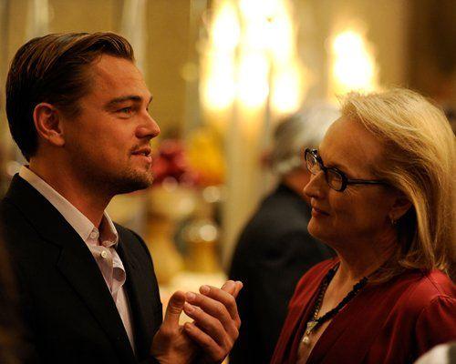 Leonardo DiCaprio with Meryl Streep