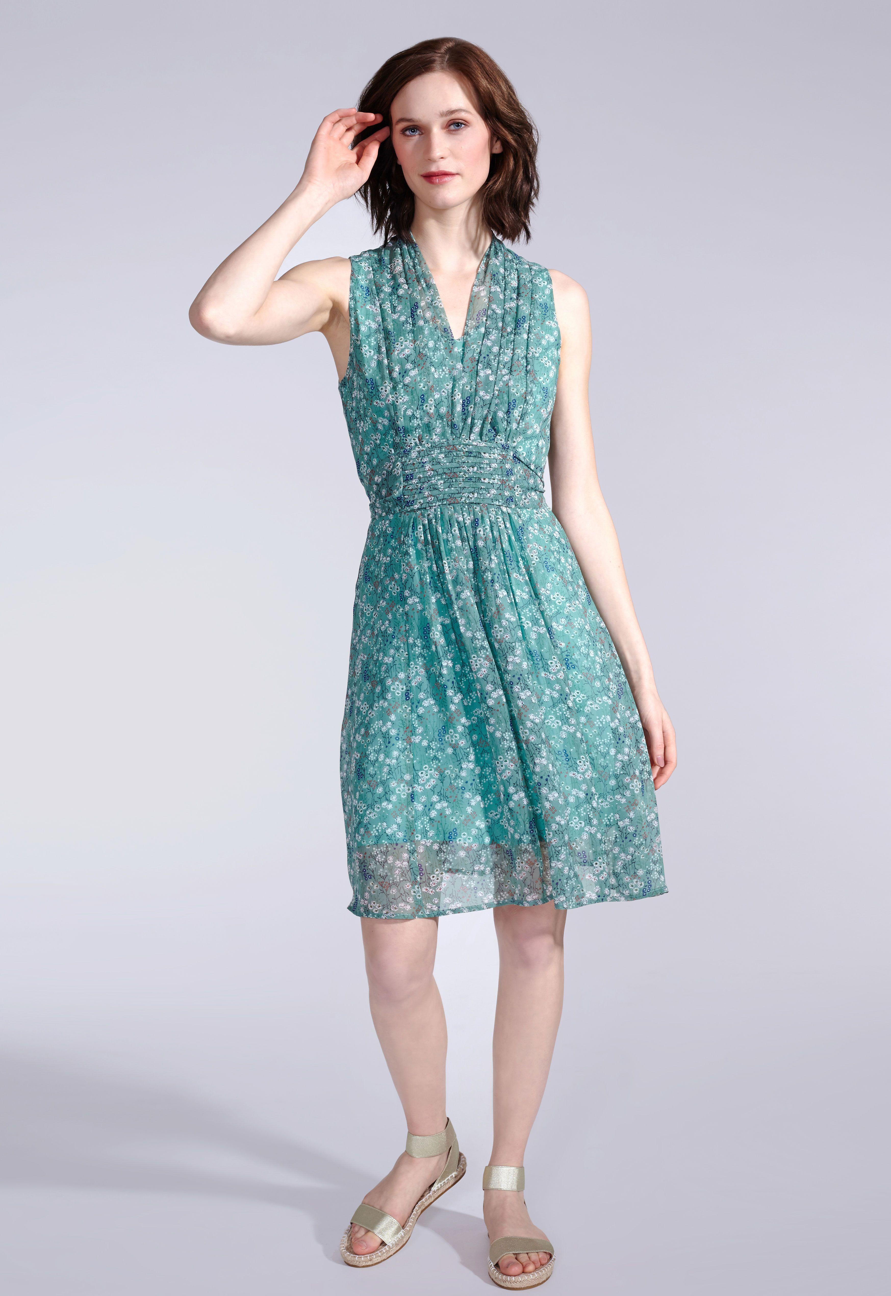 Sommerkleid in Grün mit Schleife am Rücken  Modische kleider für