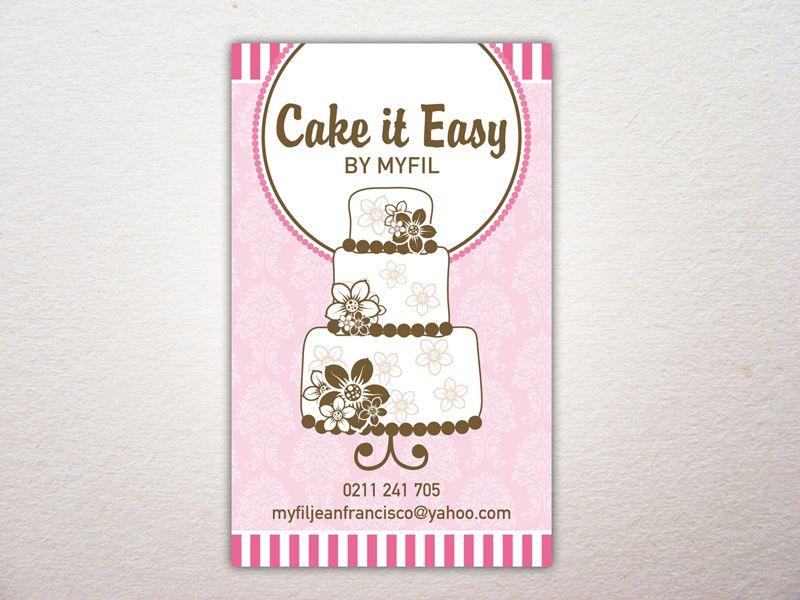 Cake it Easy business card   Sailfish Branding   Pinterest ...
