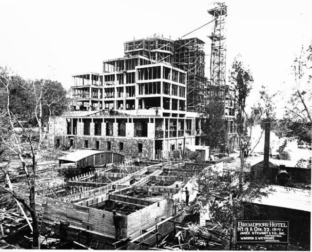 1917 Broadmoor Hotel Construction