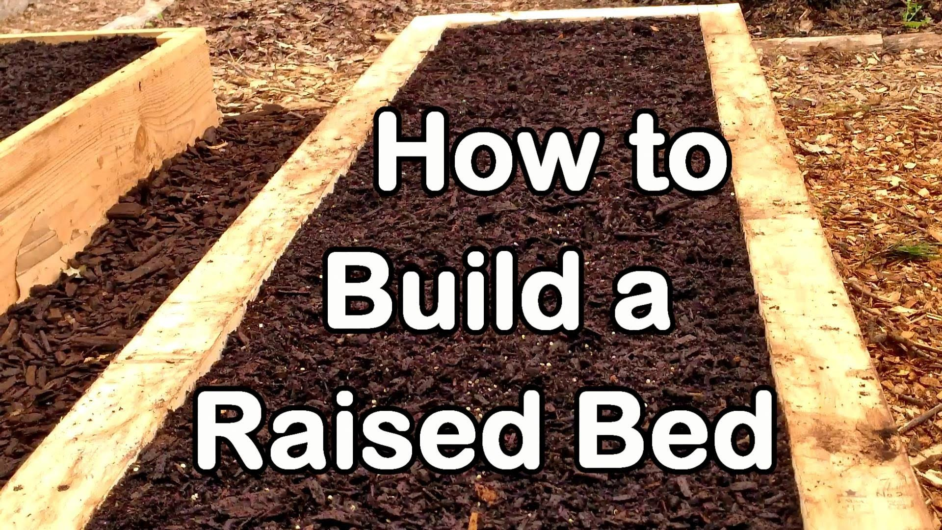 How to build a raised garden bed with wood easy ez u cheap