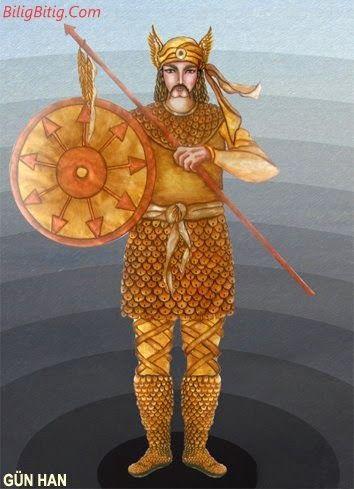 Gün-Han Türk Mitolojisi Karakteri - Türk Asya - Bilig Bitig, Asian Turkish, Тюрки России
