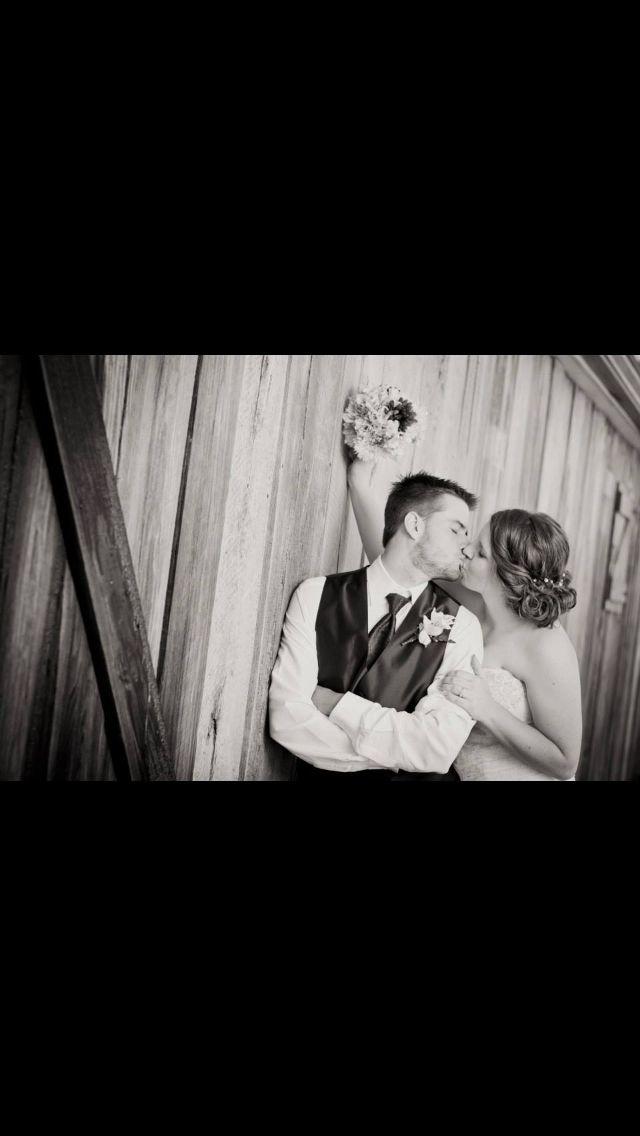Rustic wedding shot