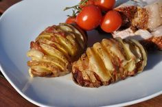 Bacon-Cheese Fächerkartoffeln Fächerkartoffeln mit Bacon & Käse - Hasselback Potatoes - https://bbqpit.de/faecherkartoffeln/