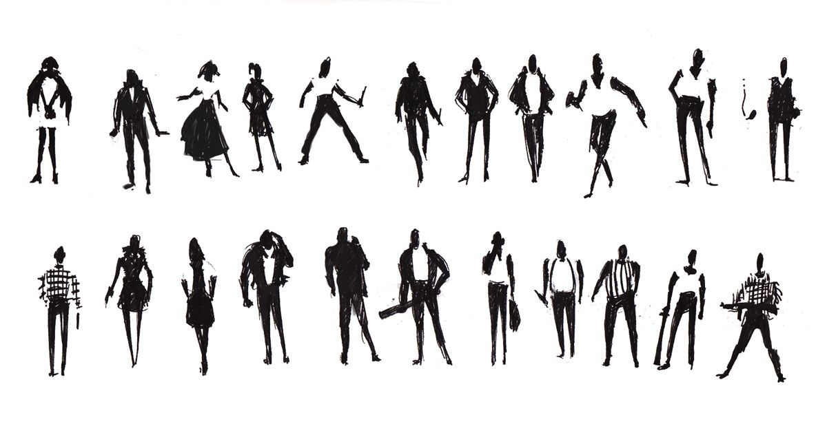 Pin By Natalia Trossero On Silhouettes Icons Drawing People Sketches Of People Silhouette People