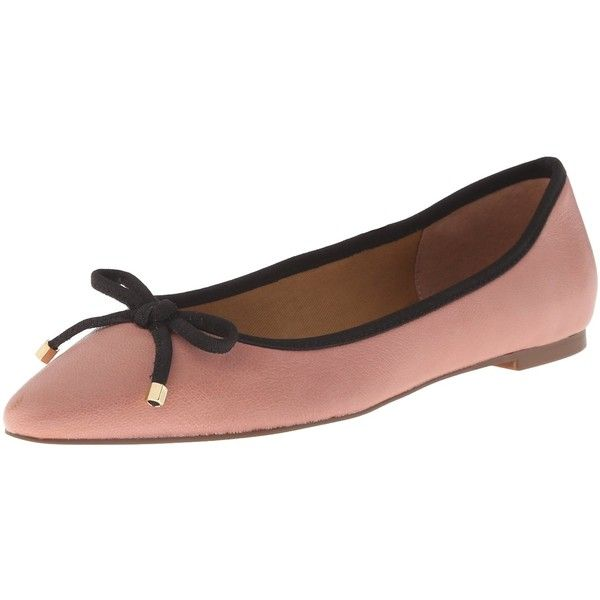 Franco Sarto Women's L-Shari2 Ballet Flat ($17) ❤ liked on Polyvore featuring shoes, flats, pointy-toe flats, franco sarto shoes, bow flats, pointy toe ballet flats and pointed toe ballet flats