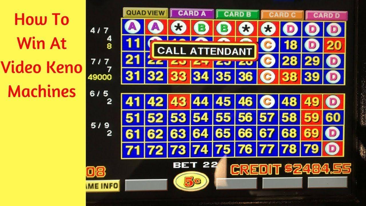 How to Win at Video Keno Machines Love gif, Gambling