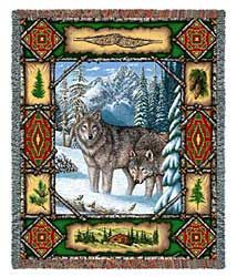 Wolf Blanket $58.00