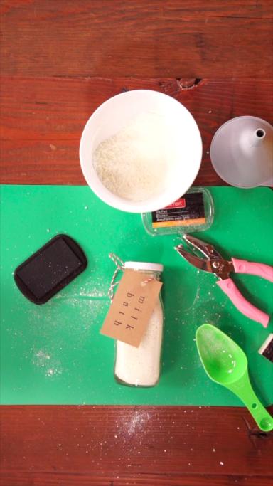 DIY Milk Bath Gifts