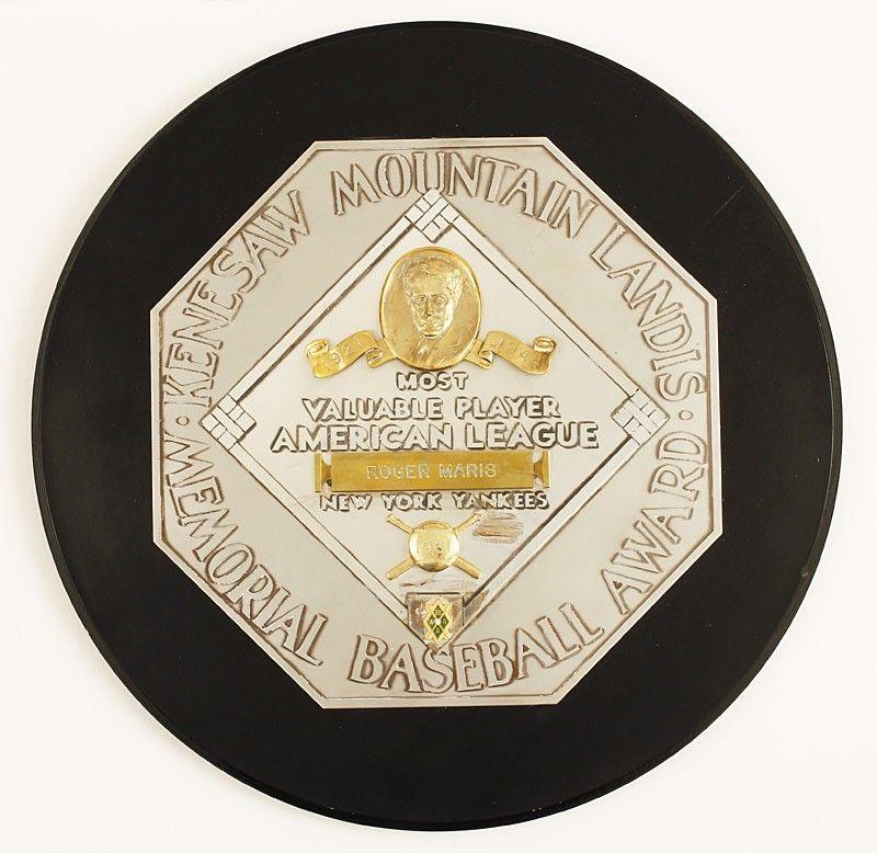 1961 roger maris american league mvp award abc higher quality