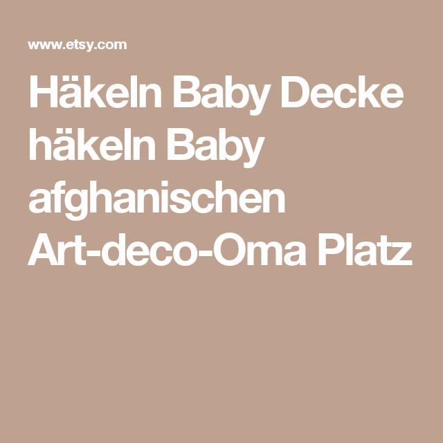 Häkeln Baby Decke häkeln Baby afghanischen Art-deco-Oma Platz ...