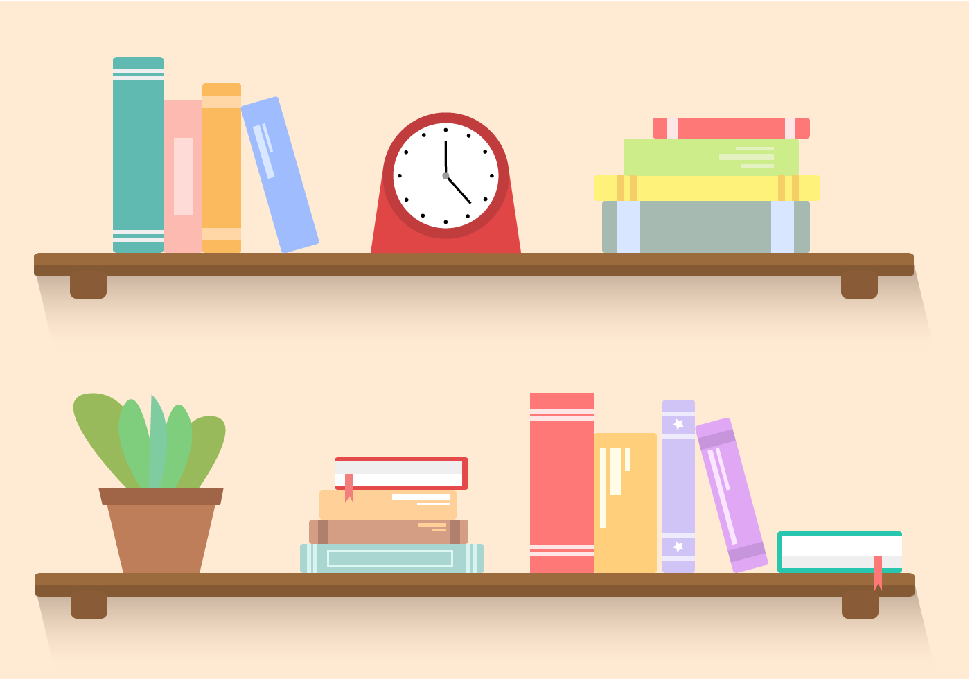 Bookshelf Free Vector Icons Designed By Freepik Vector Icon Design Vector Free Free Icons