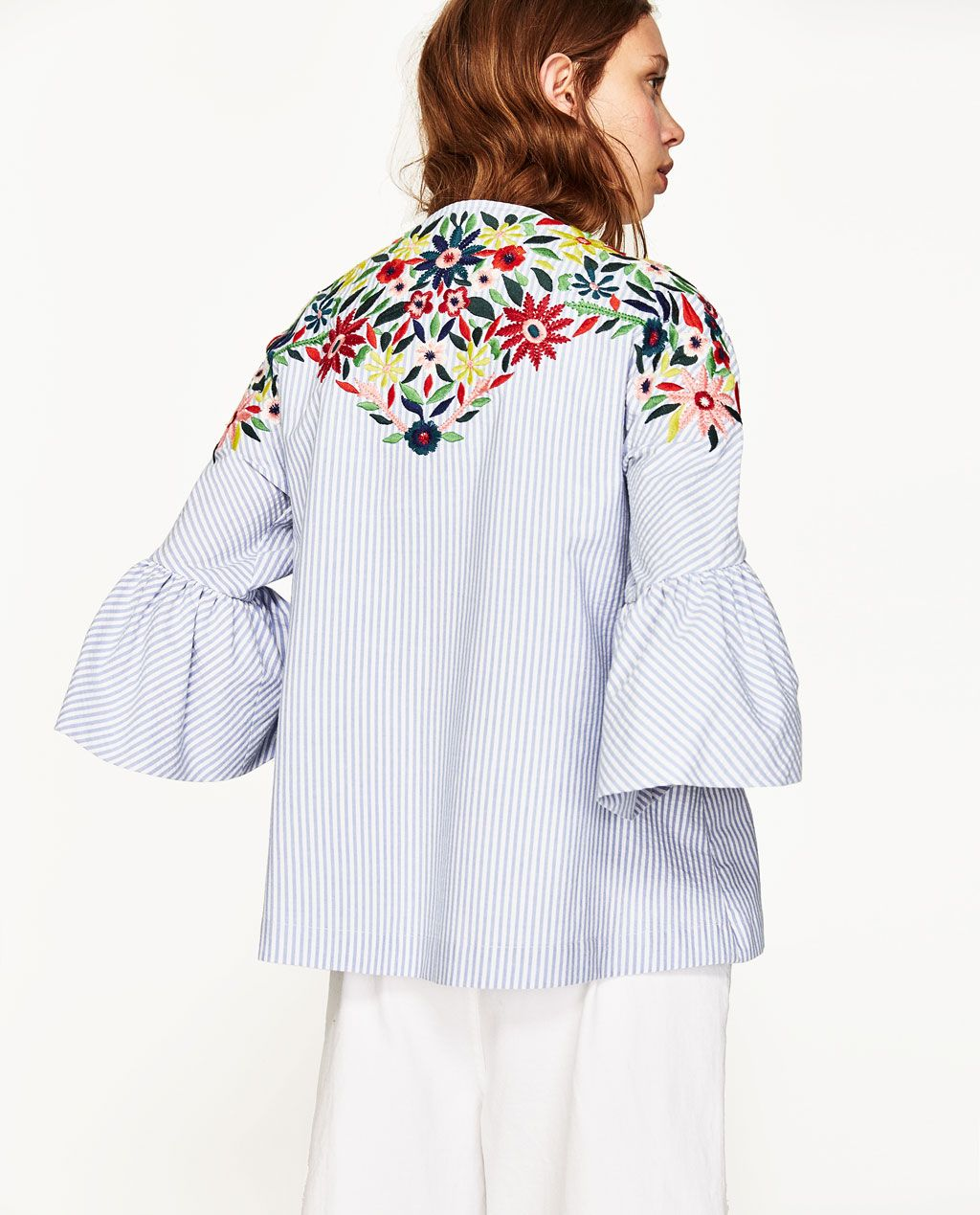 Image 4 of JACKET WITH FLORAL EMBROIDERY from Zara | Clothes ...