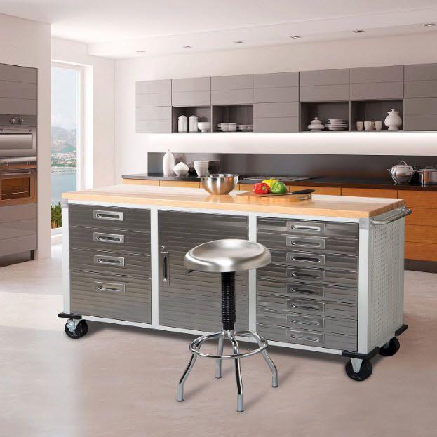 Kitchen Benchtop Storage Ideas: Workbench For Garage Heavy Duty Industrial Stainless Steel