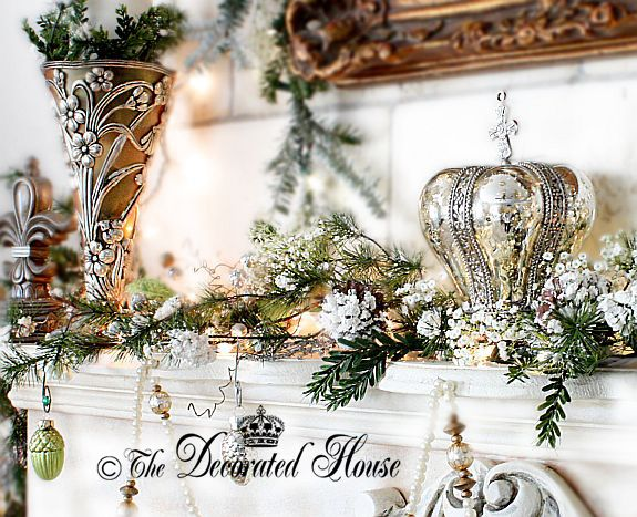 Christmas - Counting the Days Christmas mantels, Mercury glass and - christmas decorations for mantels