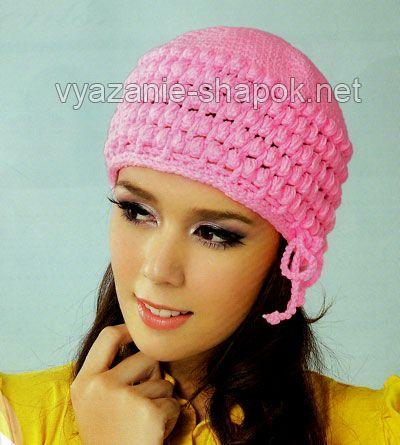 Вязание шапок на осень вязание для.
