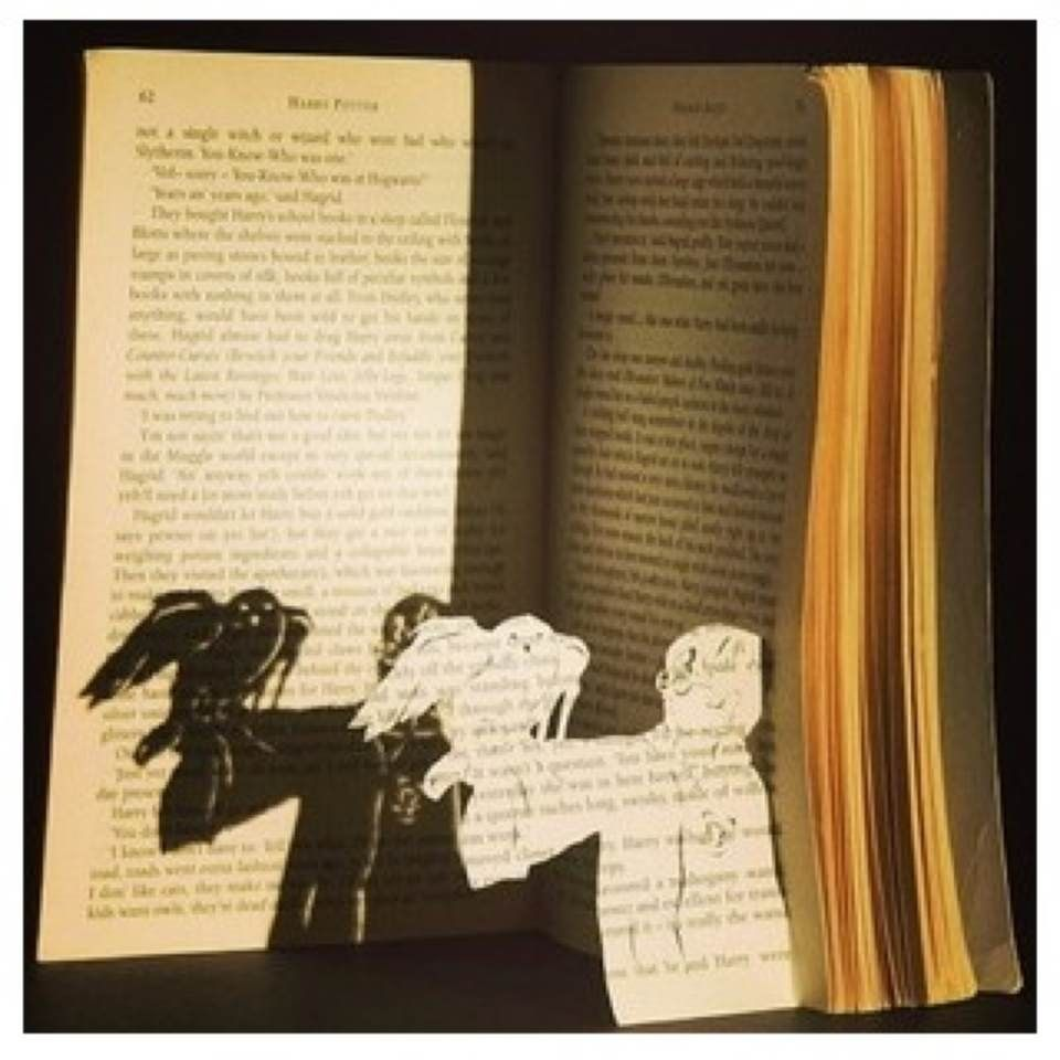 Idk why some one would do this to a book... But it's still cool.