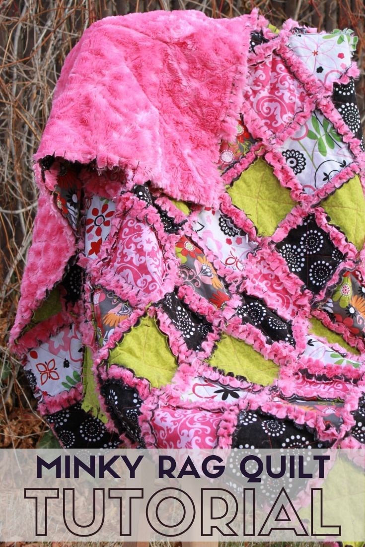How To Make A Rag Quilt With Minky Quilting The Crafty Blog Stalker Rag Quilt Tutorial Rag Quilt Patterns Rag Quilt