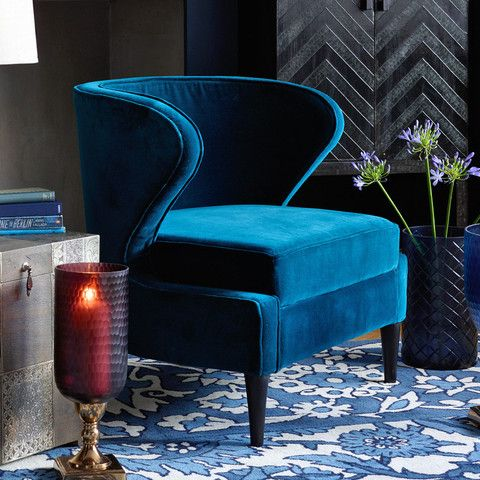Brilliant Soft Teal Velvet Curved Occasional Chair Home Renovation Ocoug Best Dining Table And Chair Ideas Images Ocougorg