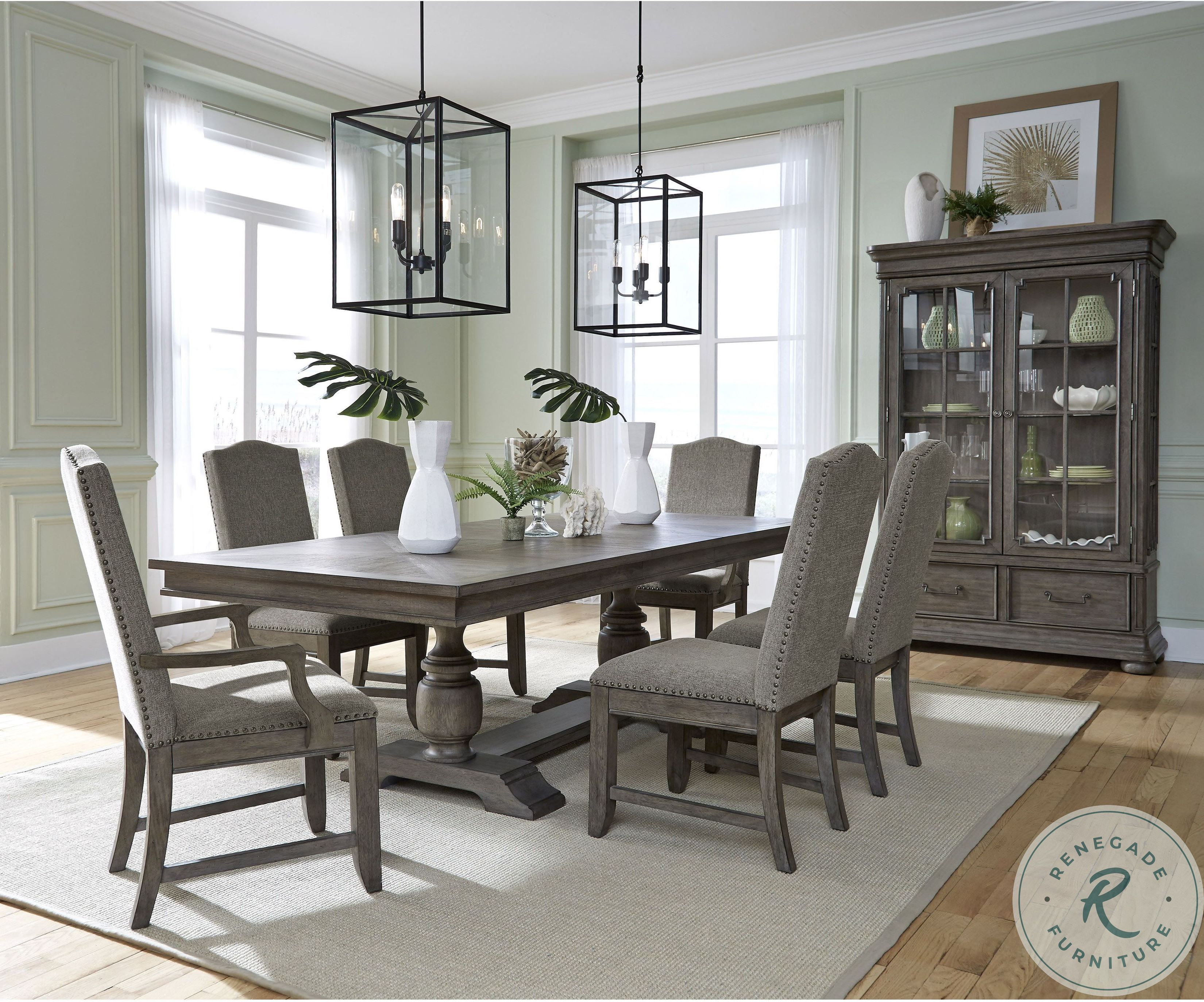 Lasalle Gray Rectangular Dining Room Set Slf S546 131a 131b Room Large Dining Room Table Dining Room Accents Grey Dining Room