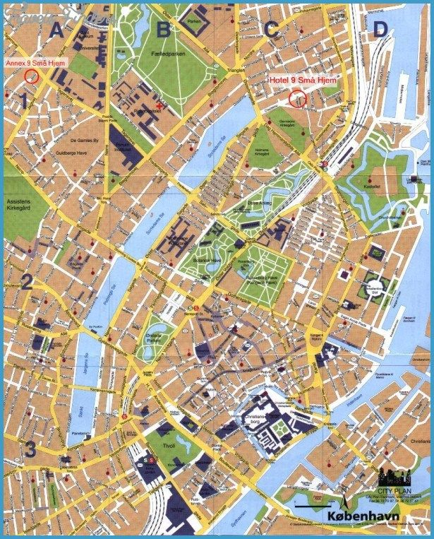 Copenhagen Map Tourist Attractions httptravelsfinderscom