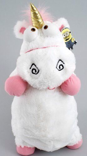 New Despicable Me Fluffy Unicorn Plush Pillow Toy Doll 22 With Tag