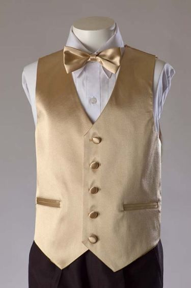 cfb08120bff8 champagne colored vest and bow tie along with other colors ...