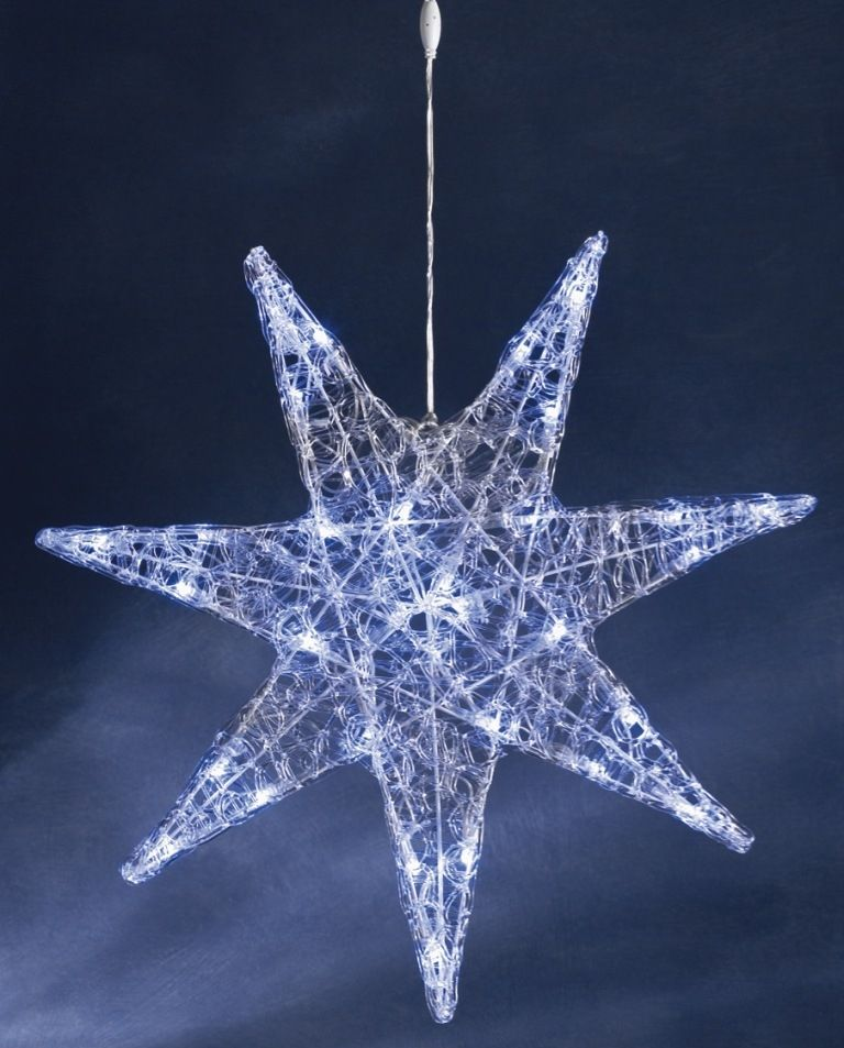 Konstsmide Christmas Acrylic Star with 32 White LED Lights. An ...