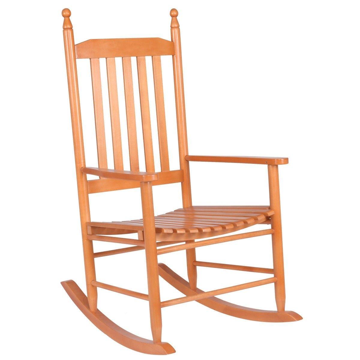Wooden Balcony Deck Garden Porch Armchair Rocking Chair Rocking Chair Outdoor Rocking Chairs Wooden Rocking Chairs