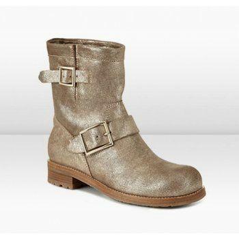 jimmy choo youth gold coarse metallic leather biker boots foot rh pinterest com