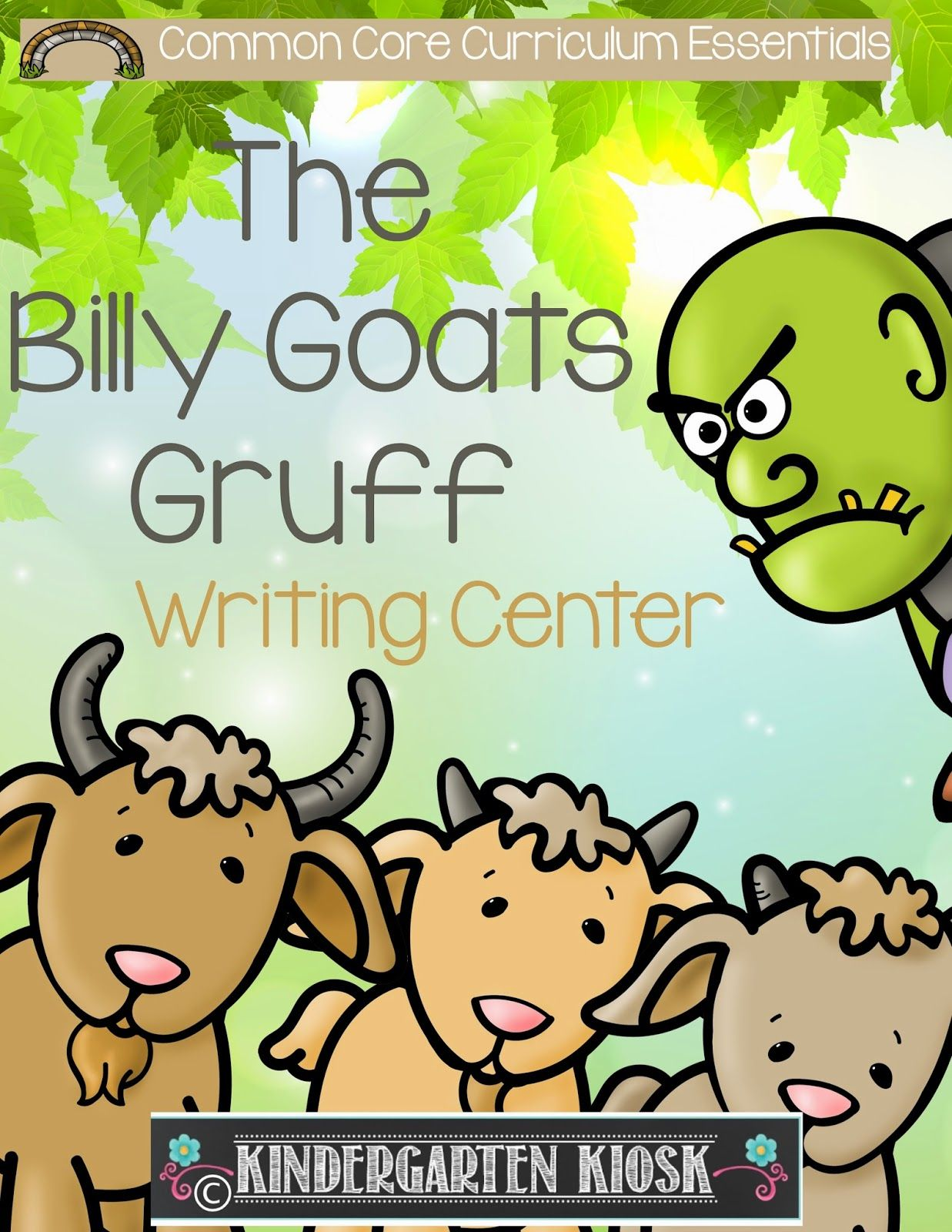 Billy Goats Gruff Writing Center Activities And Worksheets