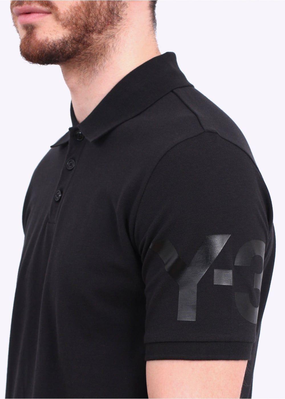 2407bb64 Y3 / Adidas - Yohji Yamamoto Classic Polo - Black   My Packaging ...