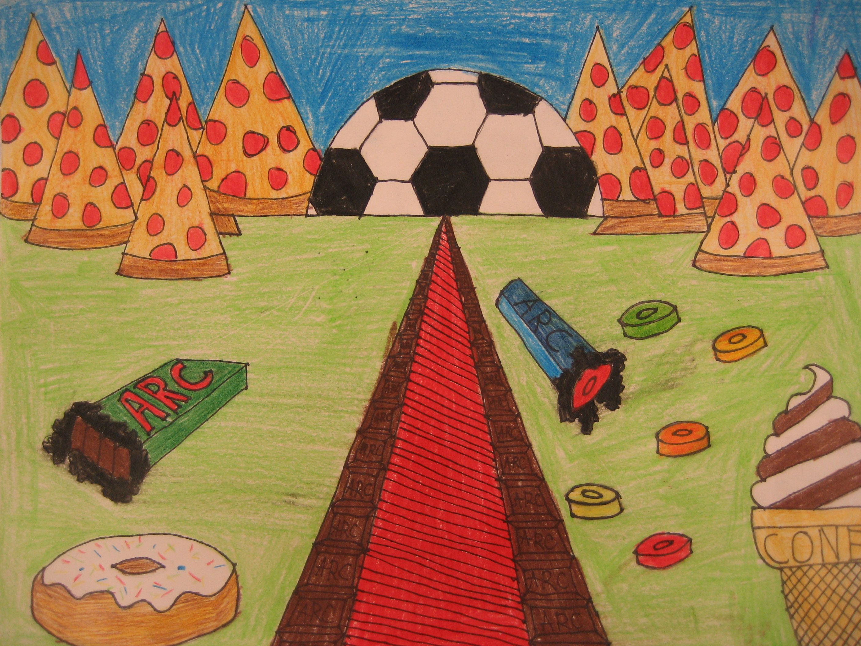 Fantasy Fun One Point Perspective Landscape My Middle School