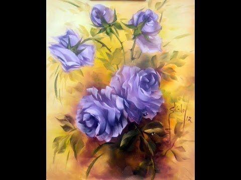 Pintando rosas com Shirley - PARTE 1 - YouTube