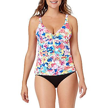 1f22da5100 FREE SHIPPING AVAILABLE! Buy Liz Claiborne Floral Tankini Swimsuit ...