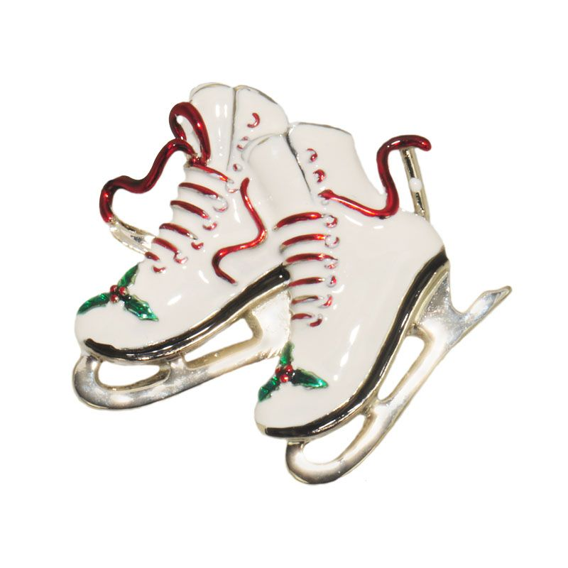 Holiday Jewelry   Ice Skate Jewelry   Christmas Pins