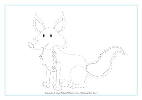 fox tracing pre k and kindergarten printables flashcards etc tracing worksheets tracing. Black Bedroom Furniture Sets. Home Design Ideas