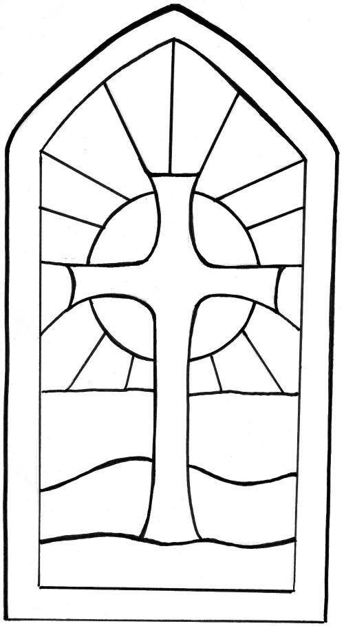 Stained glass window template to make Christian Easter ...