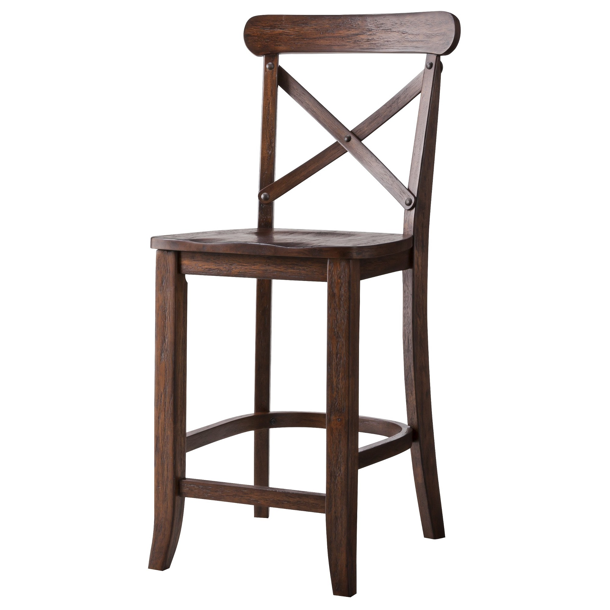 Harvester X Back 24 Counter Stool Espresso Brown Beekman