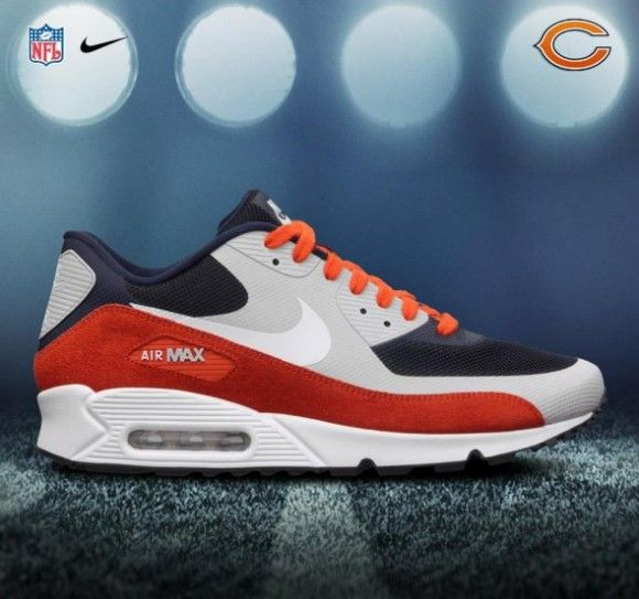 These Chicago Bears Air Max 90 Premium are Sick! A must own