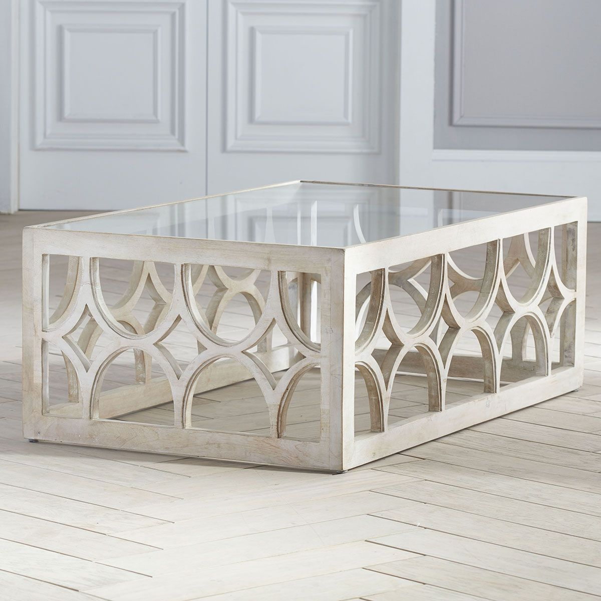 Superior Lime Wash Coffee Table