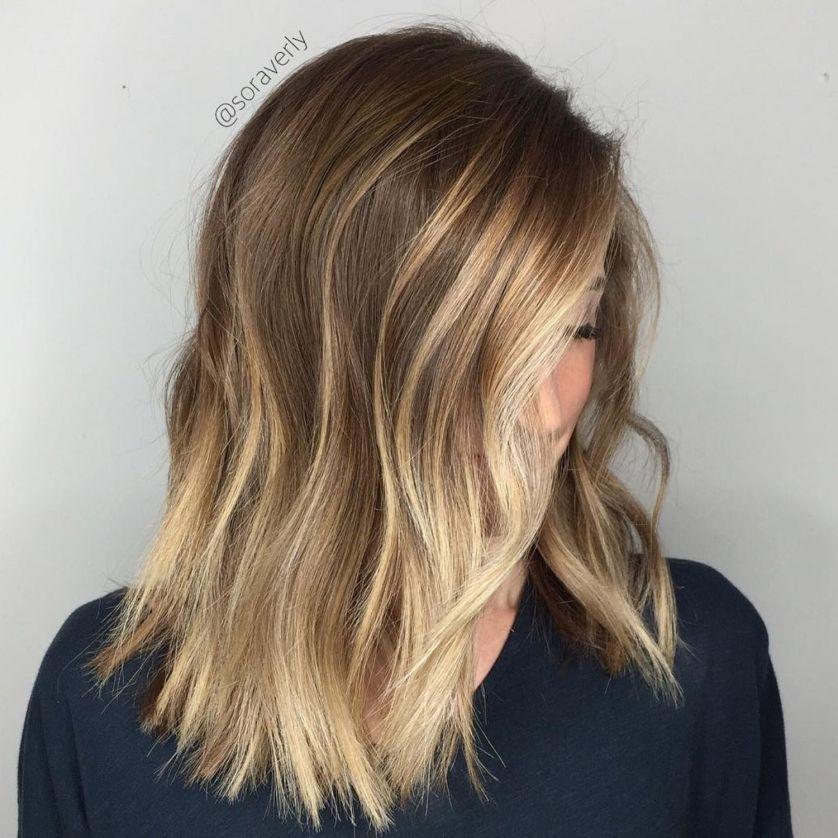 Medium Choppy Hairstyle With Contour Highlights   Thin ...