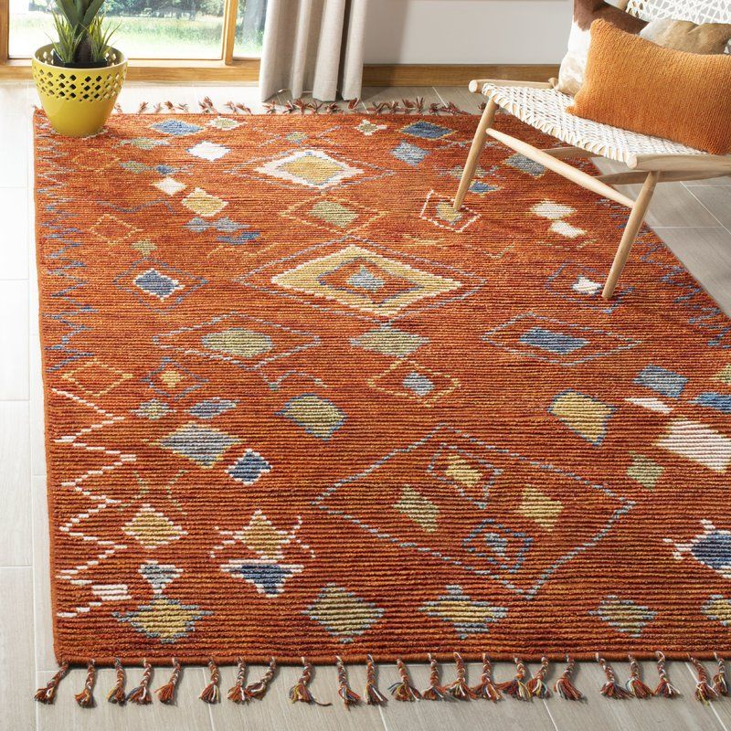 Nahla Hand Knotted Wool Cotton Currant Area Rug Joss Main Area Rug Collections Area Rugs Tribal Area Rug