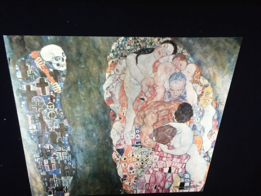 "Gustav Klimt ""Death & Life"" Austrian Art Nouveau 35mm Glass Art Slide  