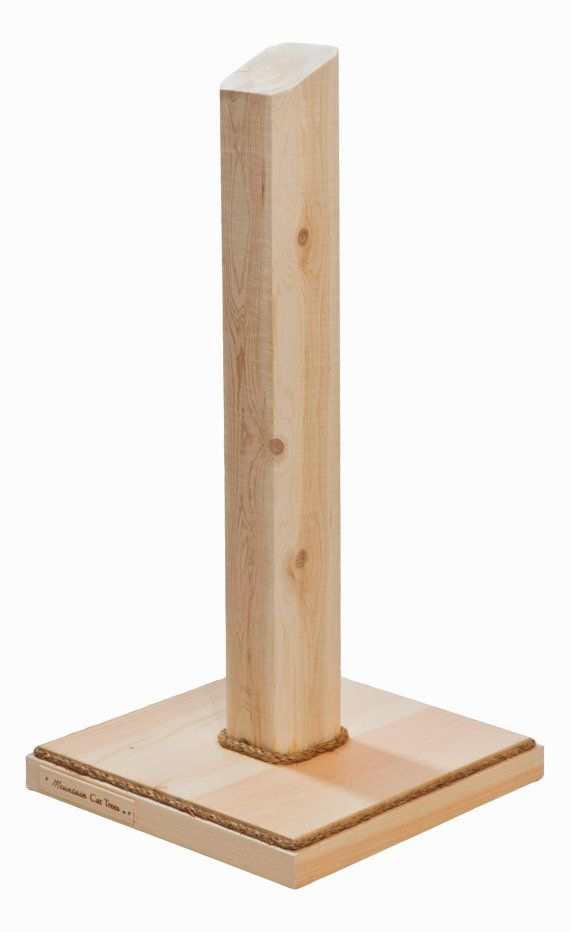 Wood Cat Scratching Post Cedar Scratching Post For The Cats And
