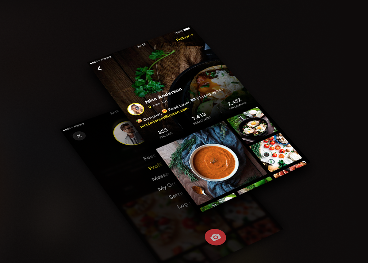 Kaia. Social Application on App Design Served