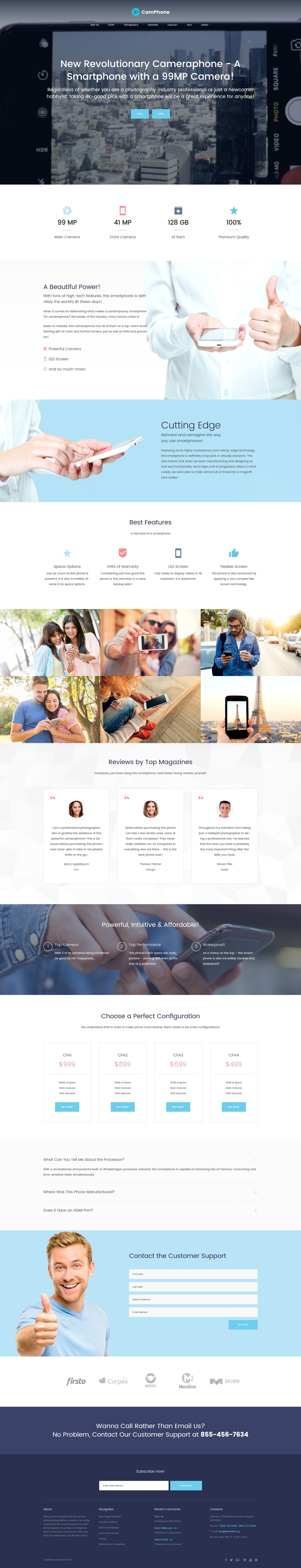 Electronics WP Theme CamPhone Smartphone Responsive