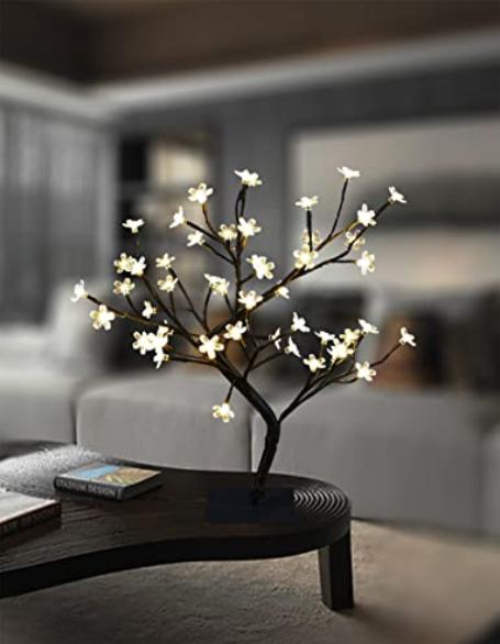 Lightshare 18 Inch Cherry Blossom Bonsai Tree Amazon Com Cherry Blossom Bonsai Tree Night Light Bonsai Tree