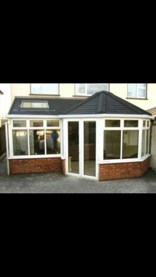 P Shaped Sunroom Extension Garden Room Extensions Tiled Conservatory Roof House Extension Design